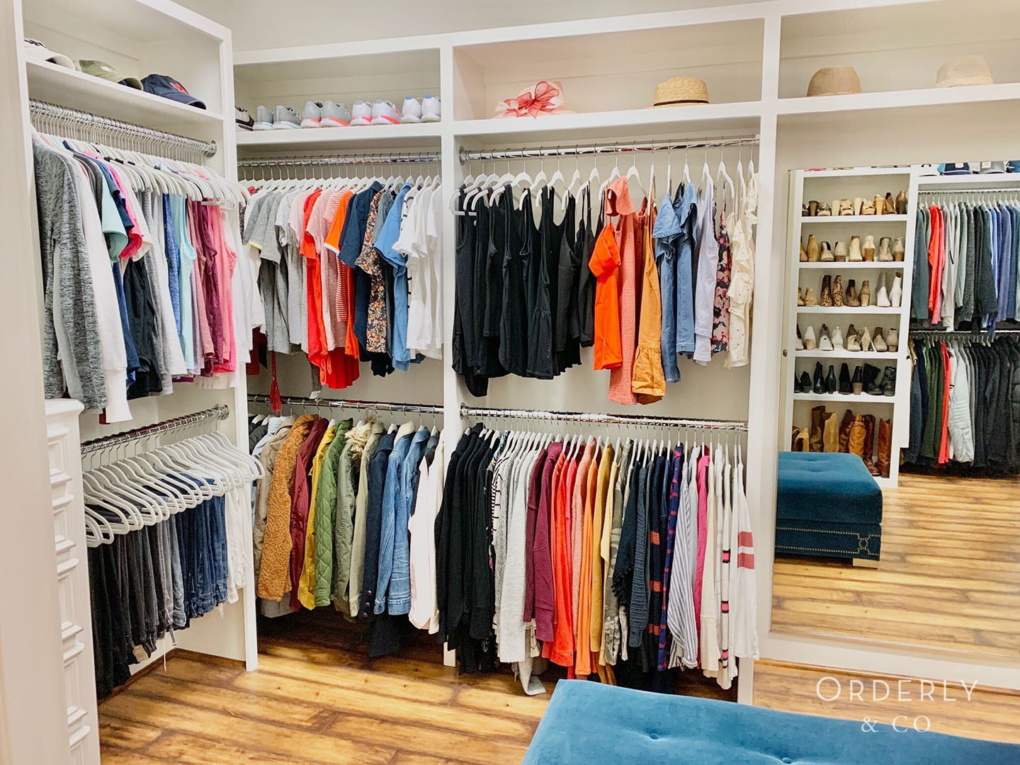 Closet Professionally Organized by Orderly & Co in Denver, CO