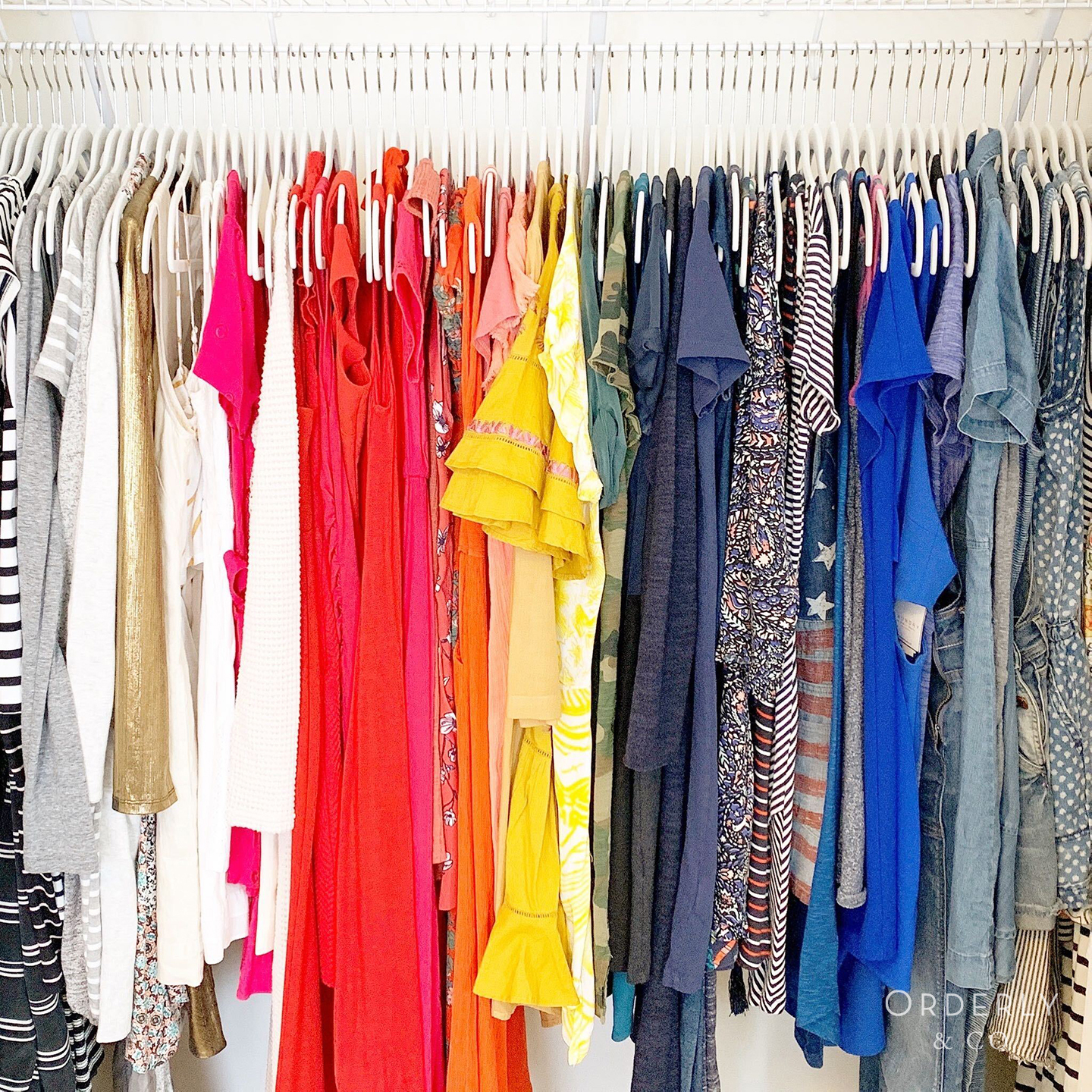 Clothes Professionally Organized in a Closet by Orderly & Co