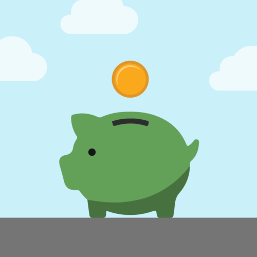 Piggy bank representing the savings that can come from making an all cash offer with Accept.inc, even if you need a mortgage
