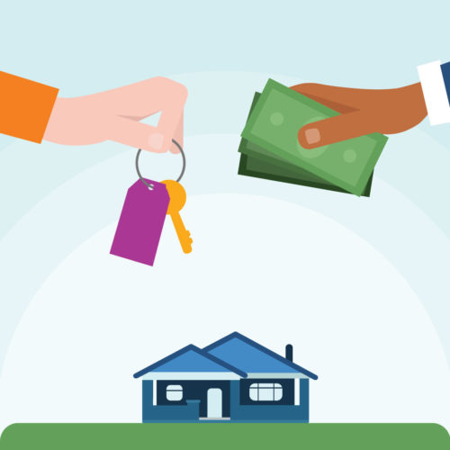 A buyer and seller making an Accept.inc cash offer on a home in Denver Colorado