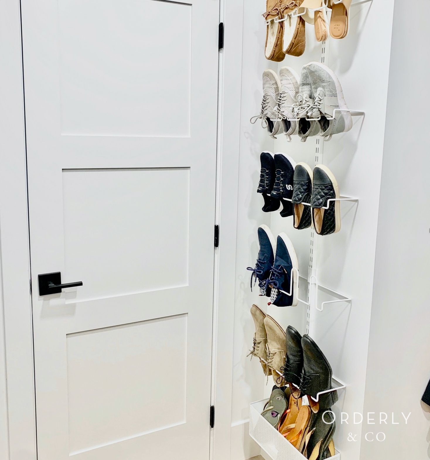 Utilizing the back of a door for more storage space is a good idea