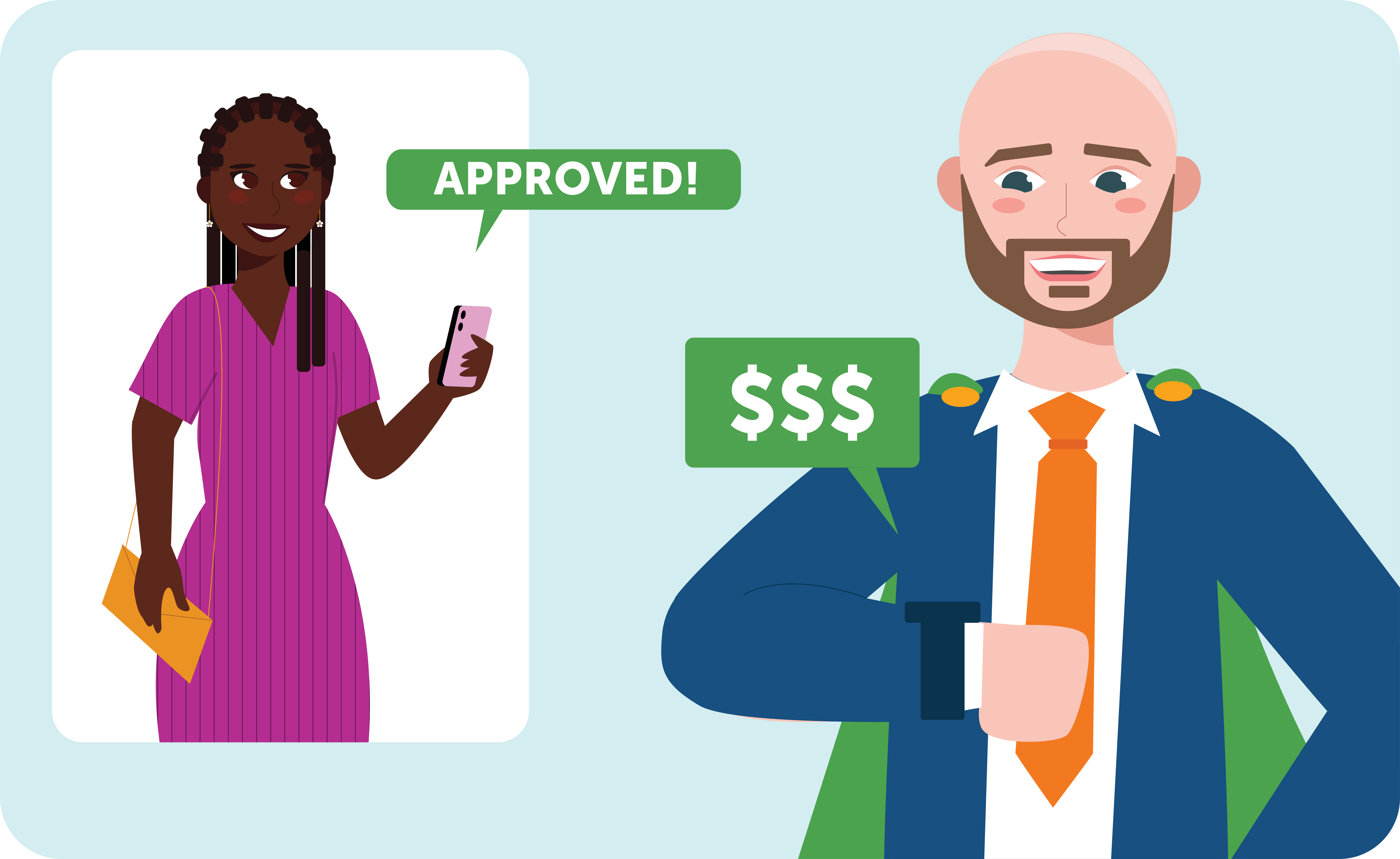 Cash approved buyer and their agent making an offer