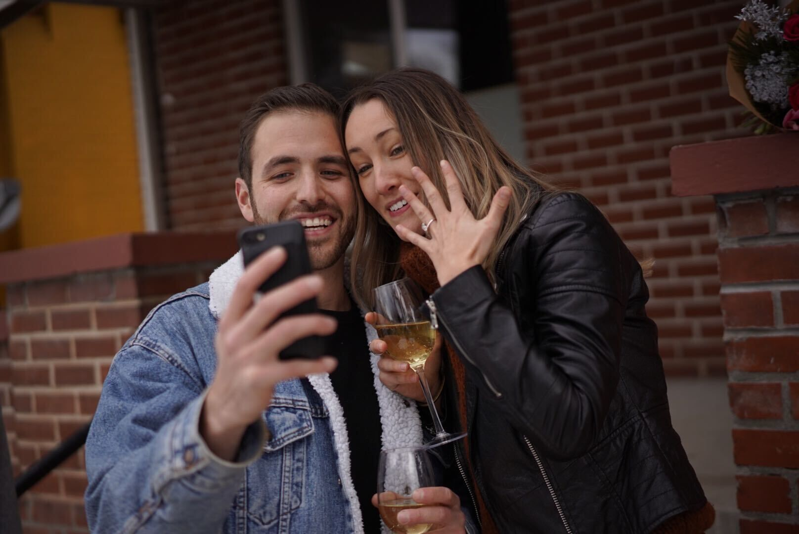 EJ & Chelsea Taking their First Engagement Selfie